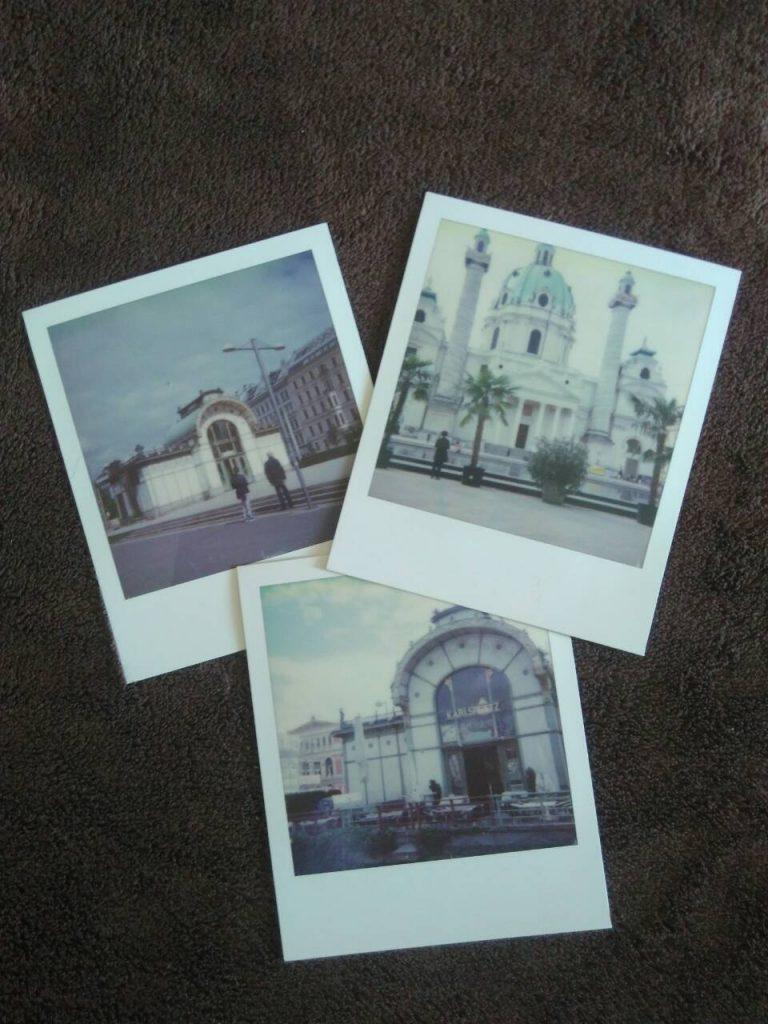 Sophort-Polaroids vom Karlsplatz